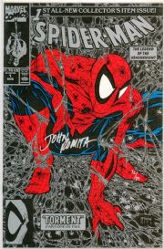 Spider-man #1 Silver Variant Dynamic Forces Signed John Romita Sr DF COA Ltd 89 Marvel comic book